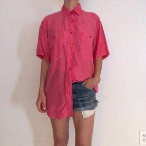 Vintage pink button up blouse